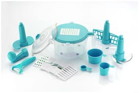 Bluewhale NEW 10-in-1 Kitchen Box Detachable Manual Food Processor Detachable Dough Maker