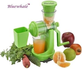 Bluewhale New Green Color Frutis & Vegitables Hand juicer With West collector.
