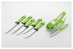 Bluewhale New 5 Knife & 1 Peeler & 1 Vegcutter Stainless Steel Knife Set