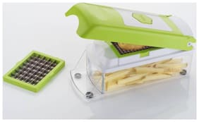 Bluzon 3 in 1 French Fry Cutter, Chopper (Green)