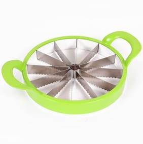 Bluzon Plastic, Stainless Steel Muskmelon, Watermelon Slicer / Cutter