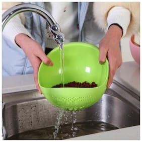 Bluzon Storage & Washing Bowl for Rice, Fruit & Vegetable