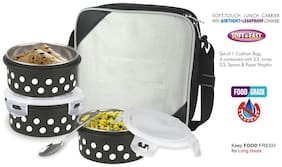 BMS Lifestyle Grey Lunch box ( Set of 1 , 300 ml )