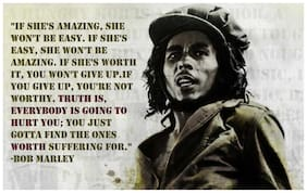 Bob Marley Motivational Quotes Poster