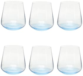 Bohemia Crystal Siesta Blue Base Whiskey Glass 400 ml set of 6 pcs