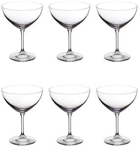 Bohemia Crystal Margarita Glass set (400ml)set of 6 pcs,Non lead crystal Bar Margarita Glass.