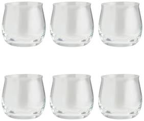 Bohemia Crystal Angela Whiskey Glass Set, 290Ml, Set Of 6, Transparent