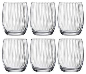Bohemia Crystal whiskey Glass set, Non Lead Crystal Club Waterfall whiskey glass(300ml) set of 6 pcs