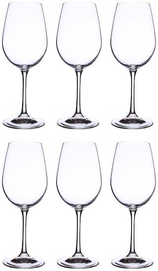 Bohemia Crystal Wine Glass set, Non Lead Crystal Viola wine Glass 350ml set of 6 pcs