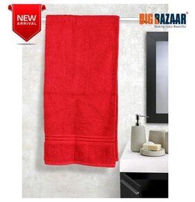 Bombay Dyeing Premium Red Large Bath Towel 1 PC