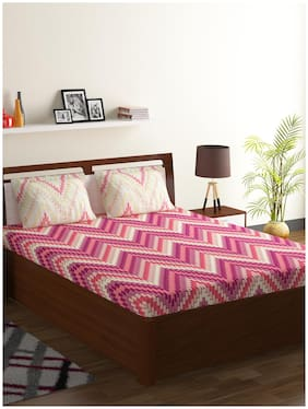Bombay Dyeing 100% Cotton Double Bed Sheet Axia