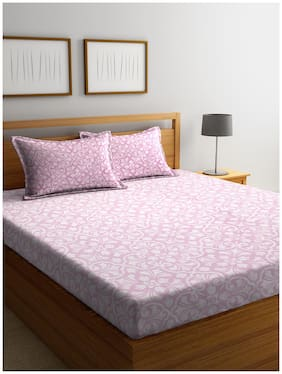 Bombay Dyeing 100% Cotton Double Bed Sheet Meleze