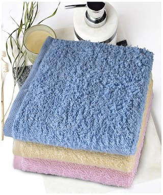 Bombay Dyeing Cotton Face Towels Set Of 3 Gifting Collection