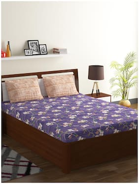Bombay Dyeing Cotton 1 Double Bed Sheet With 2 Pillow Covers