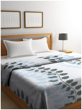 Bombay Dyeing Printed Double AC Blanket  (Polyester, Blue)