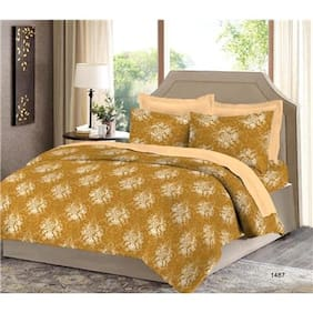 Bombay Dyeing Cotton Printed Double Size Bedsheet ( 1 Bedsheet With 2 Pillow Covers , Multi )