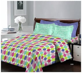 Bombay Dyeing Breeze 3969 Cotton Double Bedsheet with 2 Pillow Covers