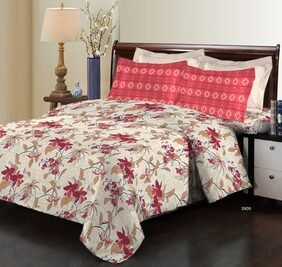 Bombay Dyeing Elixir 3909 Cotton Double Bedsheet with 2 Pillow Covers