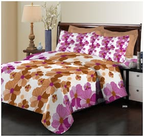 Bombay Dyeing Elixir 3906 Cotton Double Bedsheet with 2 Pillow Covers