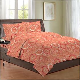 Bombay Dyeing 3098 Cotton Double Bedsheet With 2 Pillow Covers