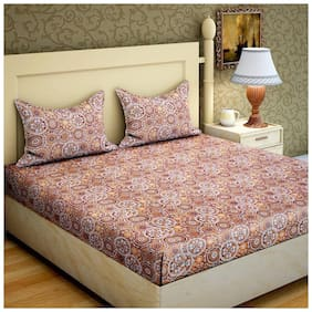 Bombay Linen Cotton Double 1 Bed sheet With 2 Pillow Covers