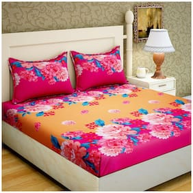 Bombay Linen Microfiber 1 Bedsheet with 2 Pillow covers