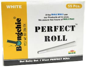Bongchie ULa Thin Smoking Paper Perfect Roll (King Size, White) - Box of 55 pcs Pre-Rolled Cones
