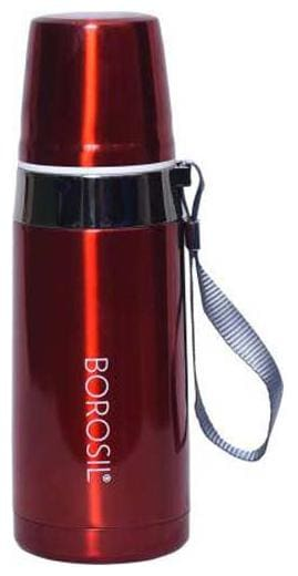 Borosil Thermosteel Flask Set of 1 ( Red , Stainless Steel ,  650 ml )