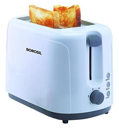 Borosil Krispy(BTO750WPW11)2 Slice Pop Up Toaster (White)