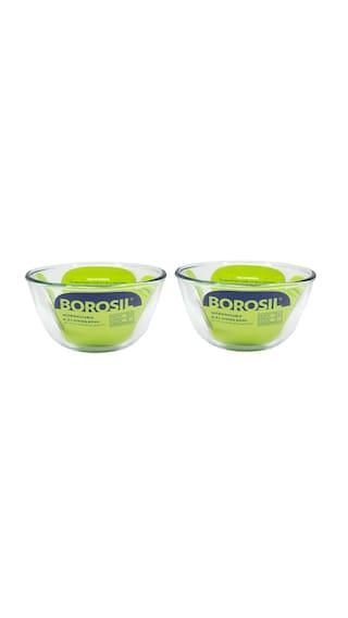 Borosil Microwavable Mixing Bowl Set Of 2 500 Ml
