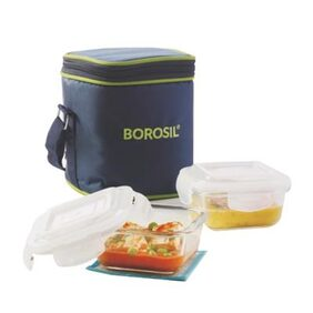 Borosil Set of 2 Klip-N-Store Square