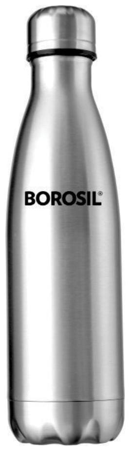 Borosil Stainless Steel Hydra Bolt - Vacuum Insulated Flask Water Bottle;750 Ml