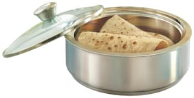 Borosil Stainless Steel Insulated Roti Server;2.5 litres;Silver