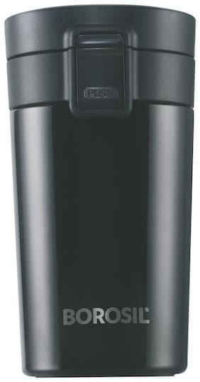 Borosil Vacuum Insulated Hydra Coffeemate Stainless Steel Travel Mug - Spill Proof - Hot And Cold
