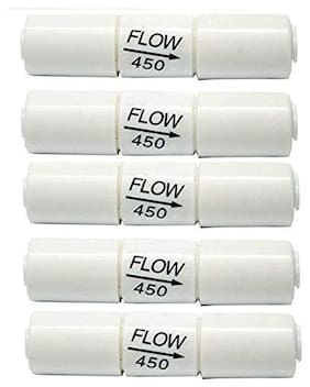 BORYS (Pack Of 5) Ro Flow Restrictor 450 Flow-(Fr-450) For Ro Water Purifiers