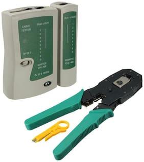 BORYS RJ45 RJ11 RJ12 CAT5 LAN Network Tool Kit Cable Tester Crimp Crimper Plier Combo Set