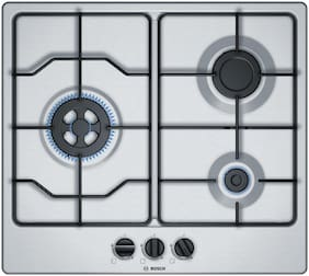 Bosch BOSCH 3 Burners Hob Top Gas Stove - Silver , Auto Ignition