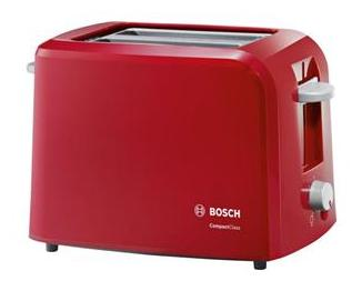 BOSCH TAT3A014 2 Slice Pop Up Toaster (Red)