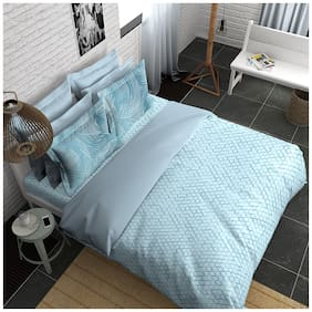 Boutique Living India Trendsetter;Palatial Dreams Silky Touch Sateen King Printed Bedsheet Set
