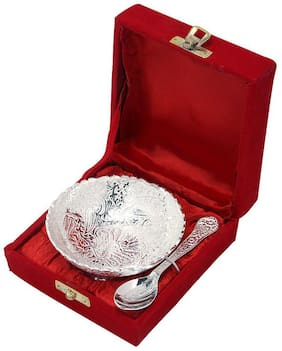 Bowl High-Class Silver Plated Bowl Set With Spoon