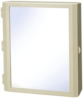 Branco  Flora Multipurpose Bathroom Mirror Cabinet - Ivory