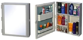 Branco Flora Multipurpose Bathroom Mirror Cabinet - White