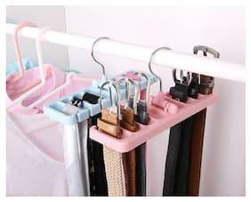 BRAND WORLD Plastic Pink Hangers ( Set of 1 )
