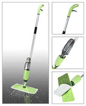 Brand World Healthy Spray Mop - Floor Mop with Removable Washable Cleaning Pad and Integrated Water Spray Mechanism