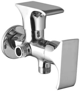 Brass 2 In 1 Angle Cock With Chrome Finish