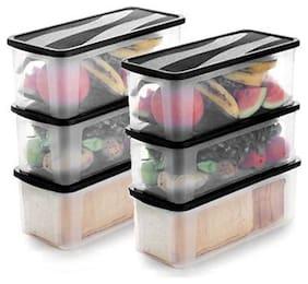 KajKin Plastic Bread Container Set of 6 ( 4000 ml , Assorted )