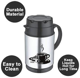 Breeze Black Thermosteel flask ( 1200 ml , Set of 1 )