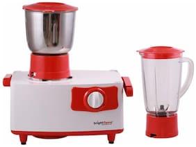 Bright Flame CHERRY-500 500 WATTS Mixer Grinder ( White & Red , 2 Jars )