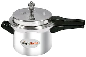 brightflame Aluminium Popular Pressure Cooker 5 L Outer Lid - Induction Base