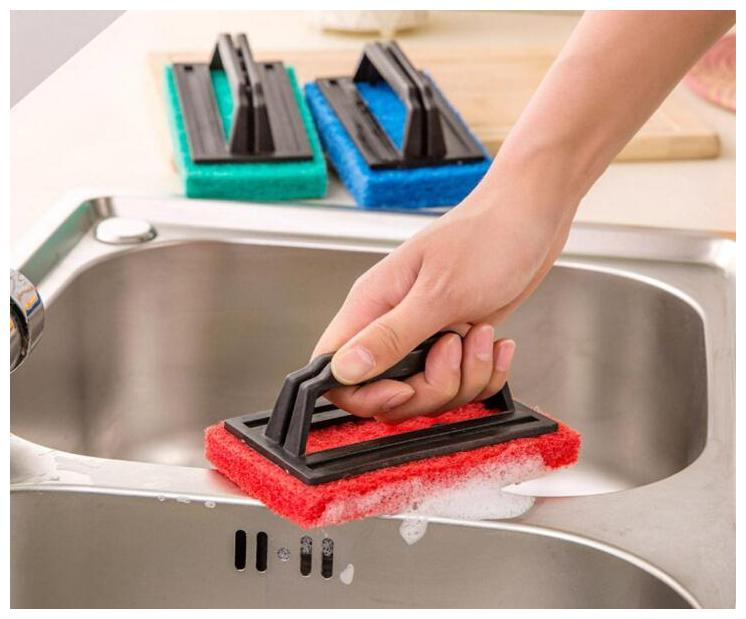 Buy Brush Floor Tile Scrubber with Plastic Handle Polisher Cleaning Brush  with Liquid Soap Dispenser Cleaning Brush, Toilet Brush, Dustpan (Set of 1)  Assorted Color Online at Low Prices in India -